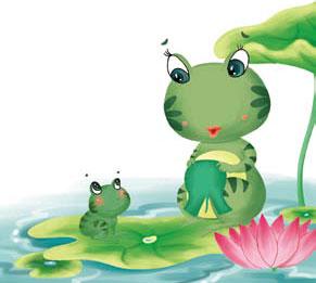 ếch mẹ may áo cho ếch con