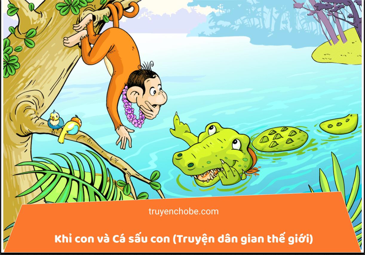 Khỉ con và Cá sấu con