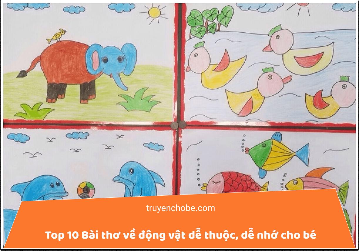 Top 10 Bài thơ, bài đồng dao về động vật dễ thuộc, dễ nhớ cho trẻ mầm non